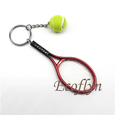 free sample custom tennis keychains in bulk supply China