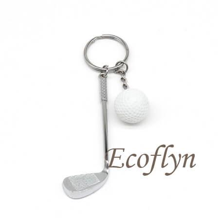 free sample golf keychain in stock bulk wholesale