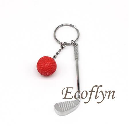 free sample golf keychain low minimum in bulk supply China