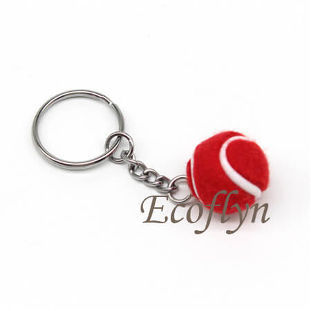 free sample in stock tennis ball key rings in bulk wholesale China