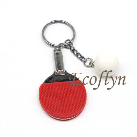 free sample table tennis keychain wholesale China