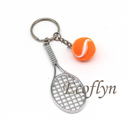 free sample tennis keyrings in stock promotion gifts wholesale