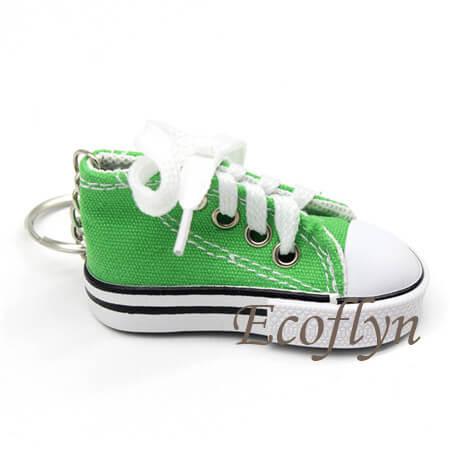 green custom free sample sneaker keychains in bulk wholesale China