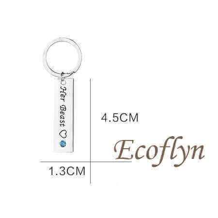 high quality bf gf keychains his beauty her beast keychain sample in stock bulk wholesale