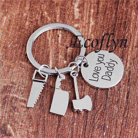 high quality custom dad keychain father keychain daddy keychain bulk wholesale low minimum supply in China
