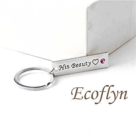 high quality customized his beauty her beast keychain bulk wholesale supply in China