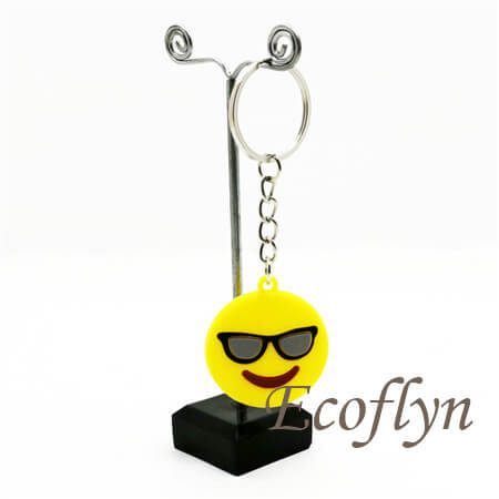 hot custom free sample rubber emoji keychains in bulk wholesale China