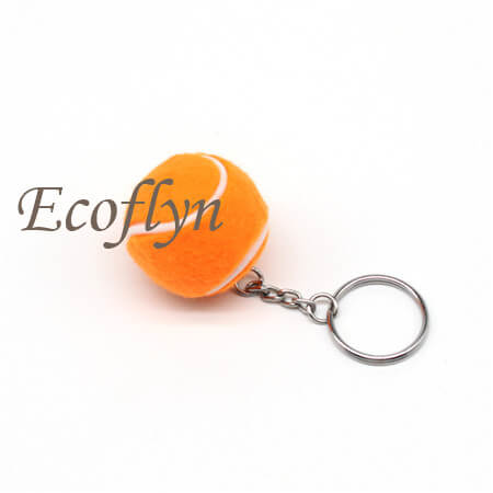 hot custom sport keychains tennis ball keychain free samples wholesale