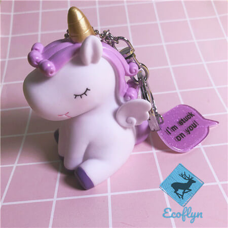 hot cute personalized unicorn keychains sample in stock bulk supply