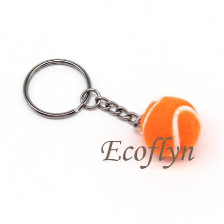 hot personalized free sample tennis ball key rings promotion sports keyrings bulk wholesale in China