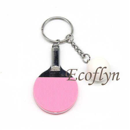 hot pink table tennis keychain low minimum wholesale in China
