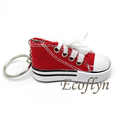 hot red free sample sneaker keychains in bulk supply