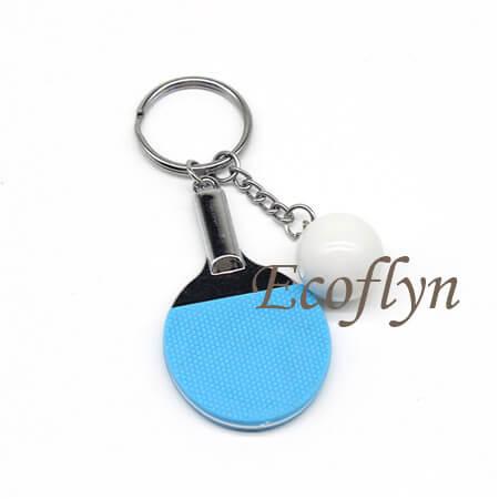 hot sale blue table tennis keychain in bulk