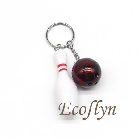 hot sale cute bowling keychains free sample in stock in wholesale China