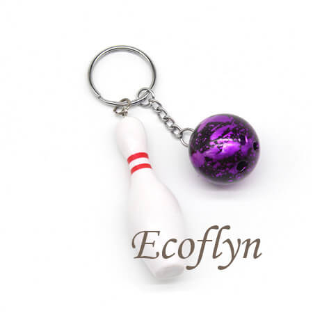 hot sale free sample in stock bowling keychains in bulk wholesale