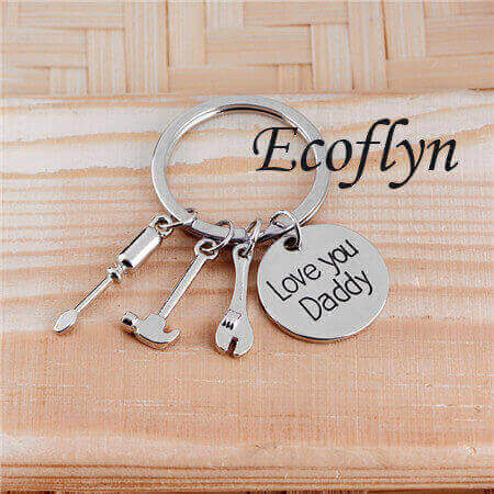 hot sale free sample in stock new dad keychain father keychain in bulk wholesale China