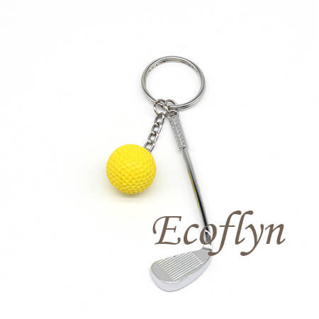 hot sale golf keychain low minimum wholesale in China
