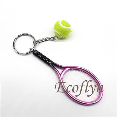 hot sale high quality tennis keychains low minimum wholesale in China