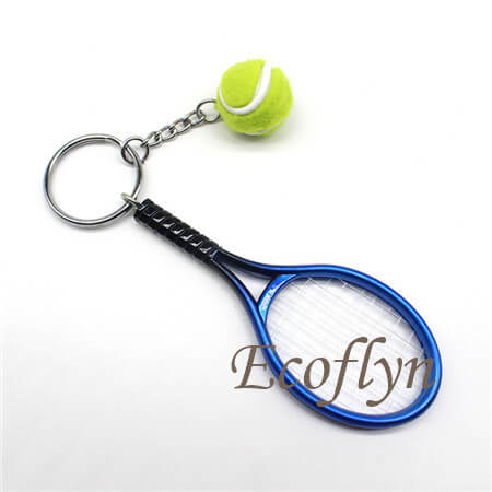 hot sale personalized cute tennis keychains sports keychains bulk wholesale in China