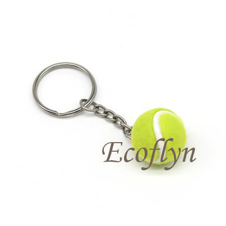 hot sale personalized tennis ball key rings low minimum wholesale