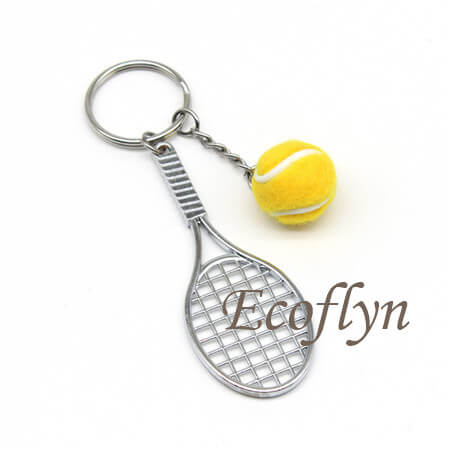 hot sale personalized tennis keyrings wholesale in China