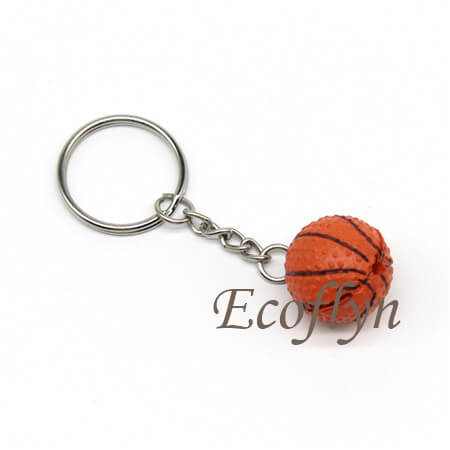 hot sale sports keychains ball keychains basketball keyrings low minimum in bulk wholesale China
