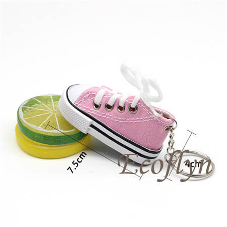 hot tiny canvas sneaker keychains free sample low minimum wholesale in China
