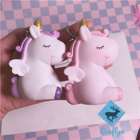 kawaii custom free sample unicorn keychains bulk wholesale supply China