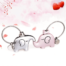 kissing elephants keychain