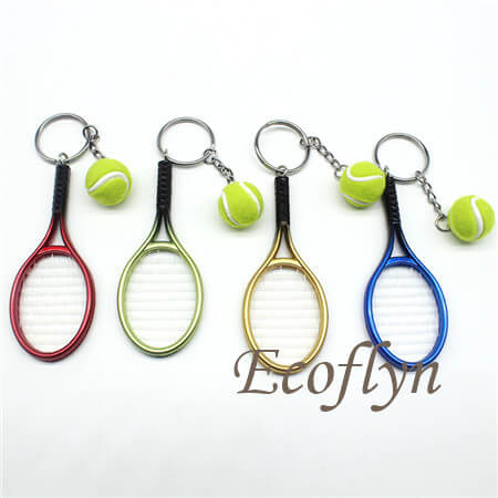 multicolor custom tennis keychains sample free in bulk wholesale in China