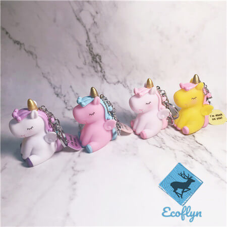 multicolor free sample in stock unicorn keychains low minimum wholesale China