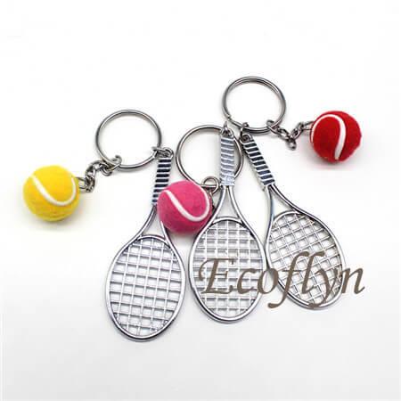 multicolor free sample tennis keyrings in stock wholesale