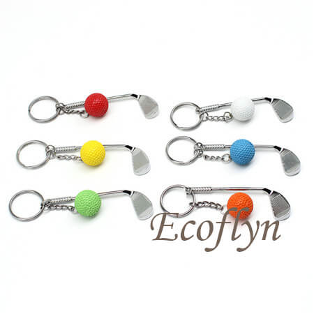 multicolor golf keychain free sample