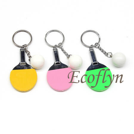 multicolor table tennis keychain in stock wholesale China