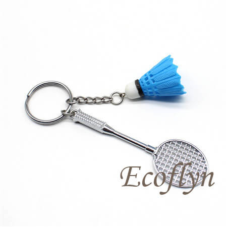 personalized badminton keychain low minimum in stock wholesale
