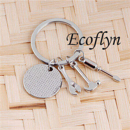 personalized dad keychain father keychain this daddy belongs to keyring sample in stock bulk wholesale China