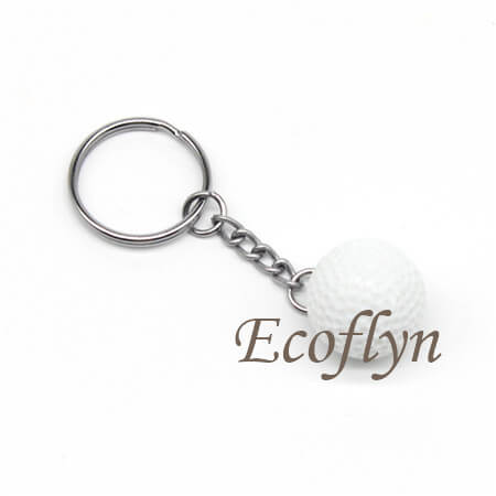 personalized golf ball keychains promotion business keychains bulk wholesale in China