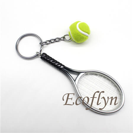 personalized promotional keyrings tennis keychains free sample bulk wholesale China