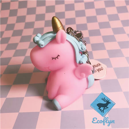pink custom unicorn keychains low minimum wholesale China