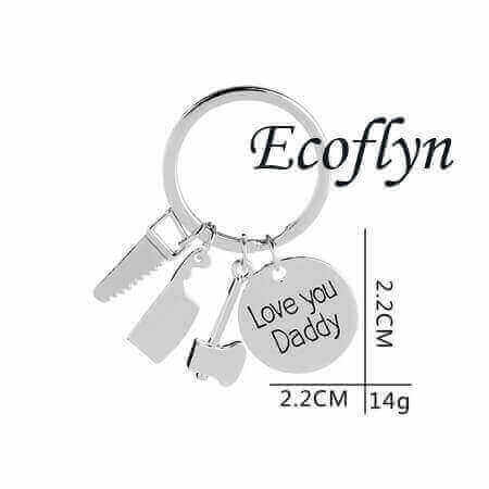 premium quality new dad keychain this daddy belongs to keyring bulk wholesale low minimum supply in China