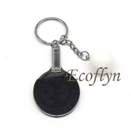 premium quality table tennis keychain low minimum wholesale in China