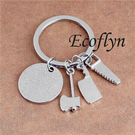 quality personalized dad keychain daddy keyring sample in stock low minimum wholesale in China