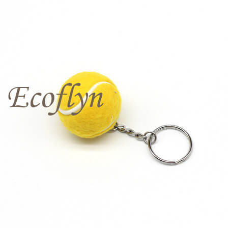 tennis ball keychain free sample in stock promotion keychains wholesale
