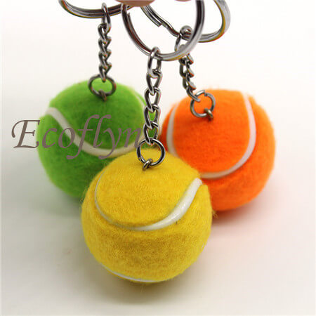 tennis ball keychain free sample sport keychains bulk supply in China