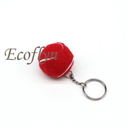 tennis ball keychain low minimum wholesale in China