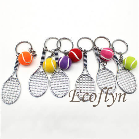 tennis keyrings free sample in stock wholesale China