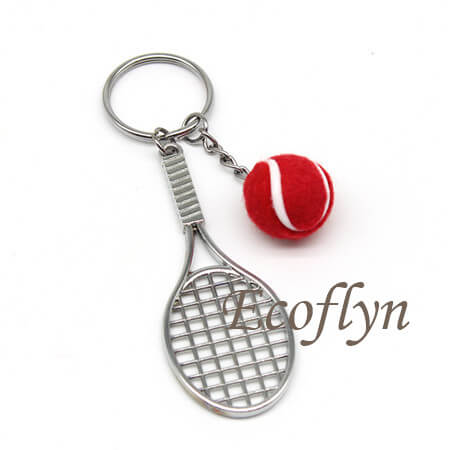 tennis keyrings low minimum in bulk wholesale