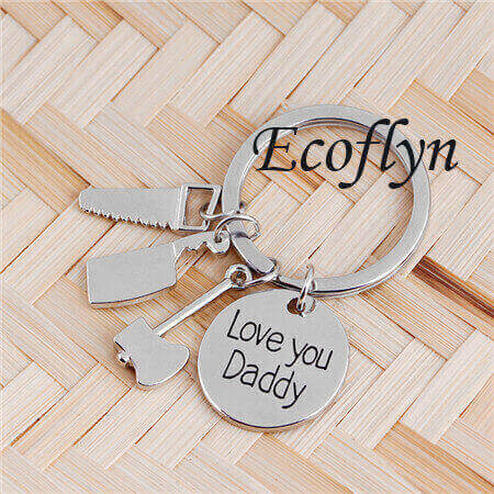 this daddy belongs to keyring custon love you dad keychain sample in stock low minimum wholesale
