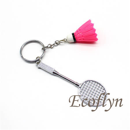 tiny badminton keychain promotion keychains bulk wholesale in China