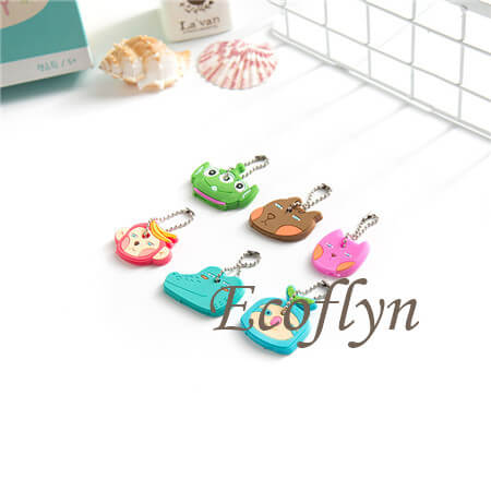 free sample custom soft rubber cute key covers cute key toppers low nimimum wholesale in China